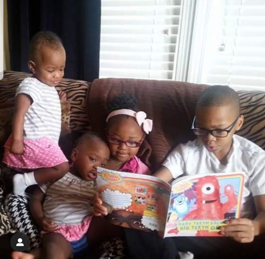 My favorite throwback of my kiddos on the couch enjoying a good storybook .
